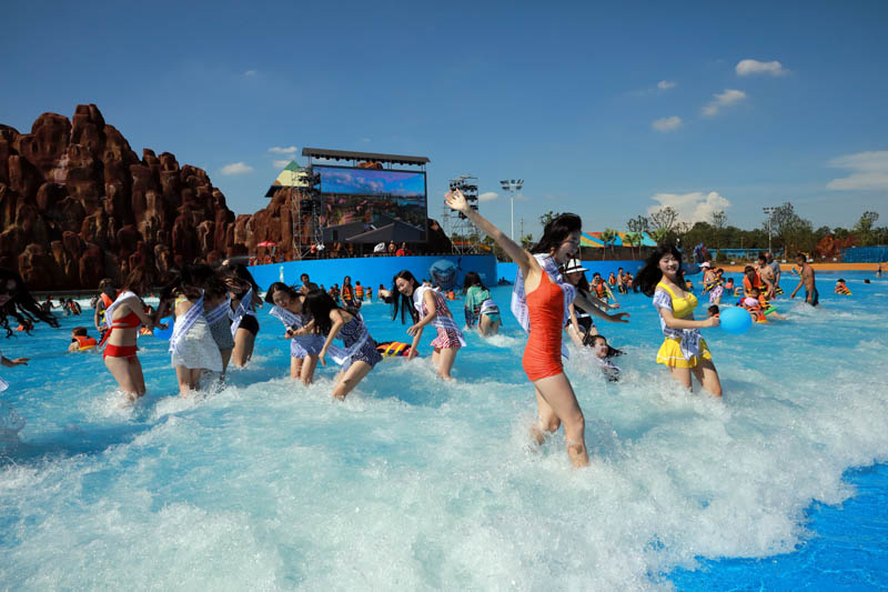 water park Artificial wave pool