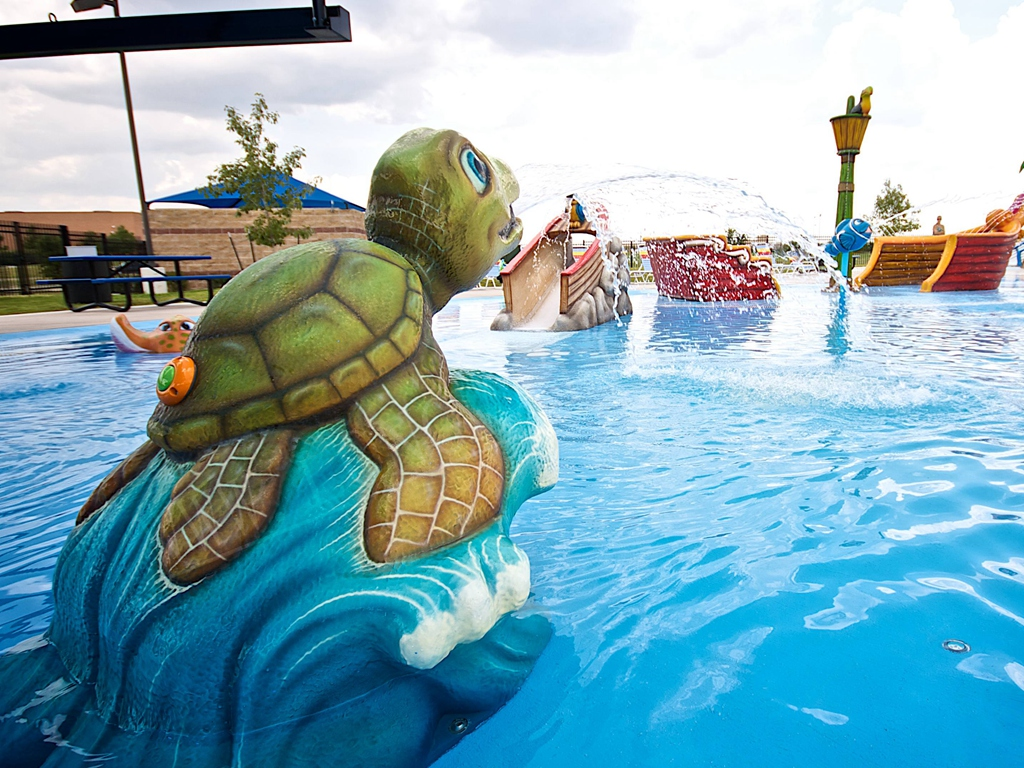 Turtle water spray