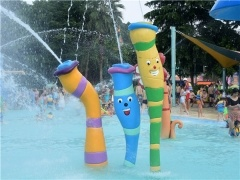 water column spray in theme park