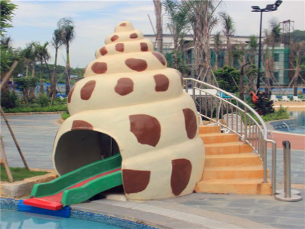 Water park Conch water slide for kids