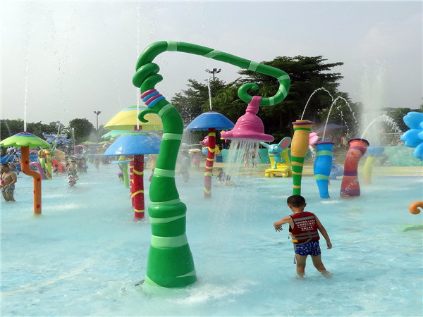 Flower water spray for kids park