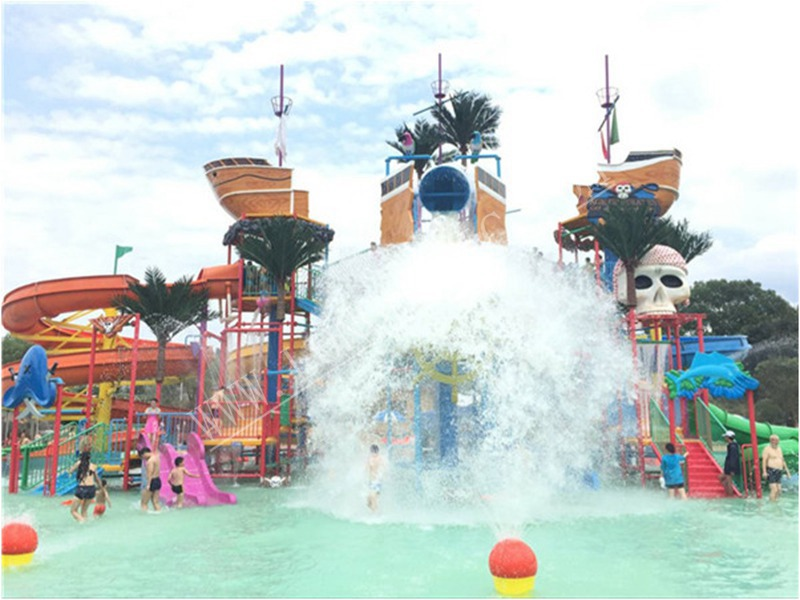 Pirate aqua house equipment in water park