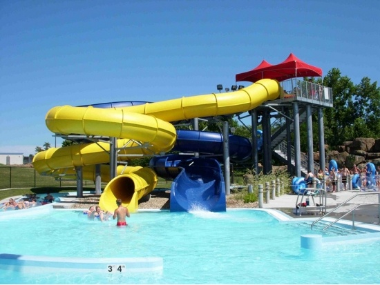 hot sale fiberglass water slides manufacturer